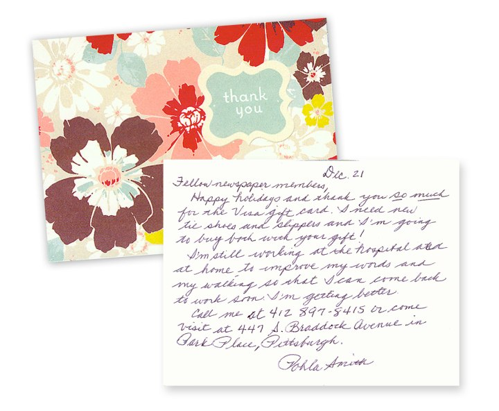 Pohla Smith thank you card